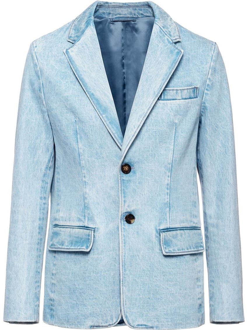 джинсовый мужской пиджак Prada
