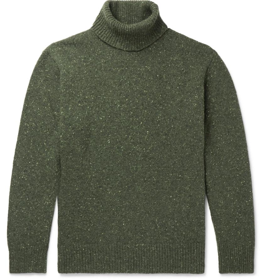 свитер водолазка мужская хаки Universal Works