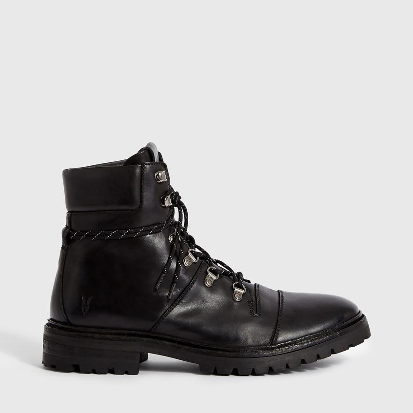 мужские черные высокие ботинки AllSaints
