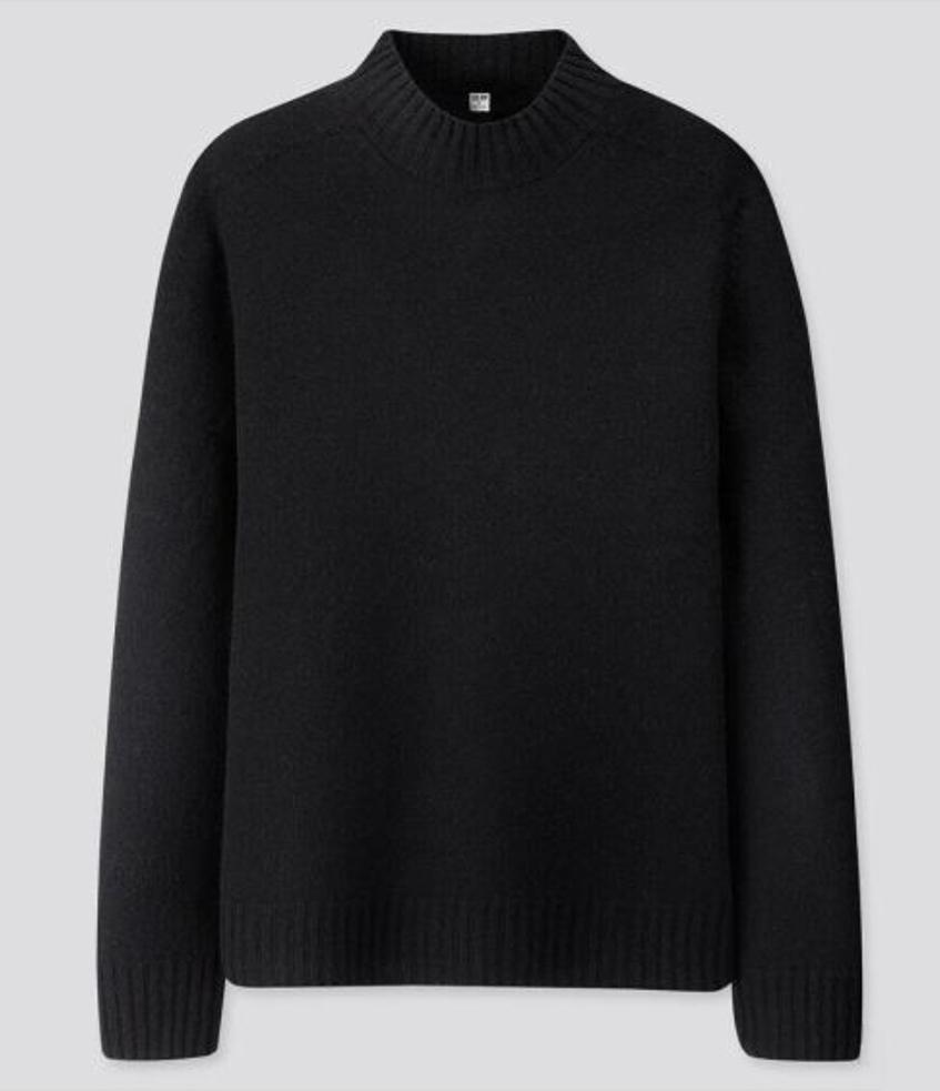 свитер мужской черный Uniqlo