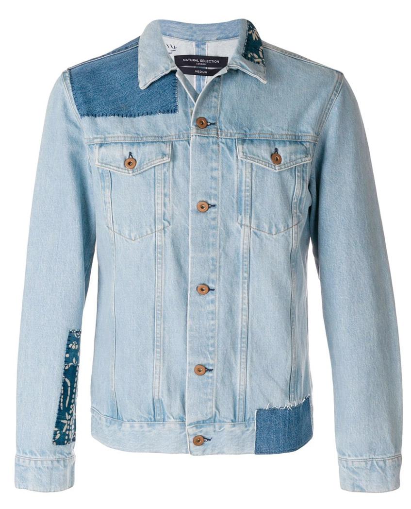 мужская рубашка из светлой джинсы Natural Selection