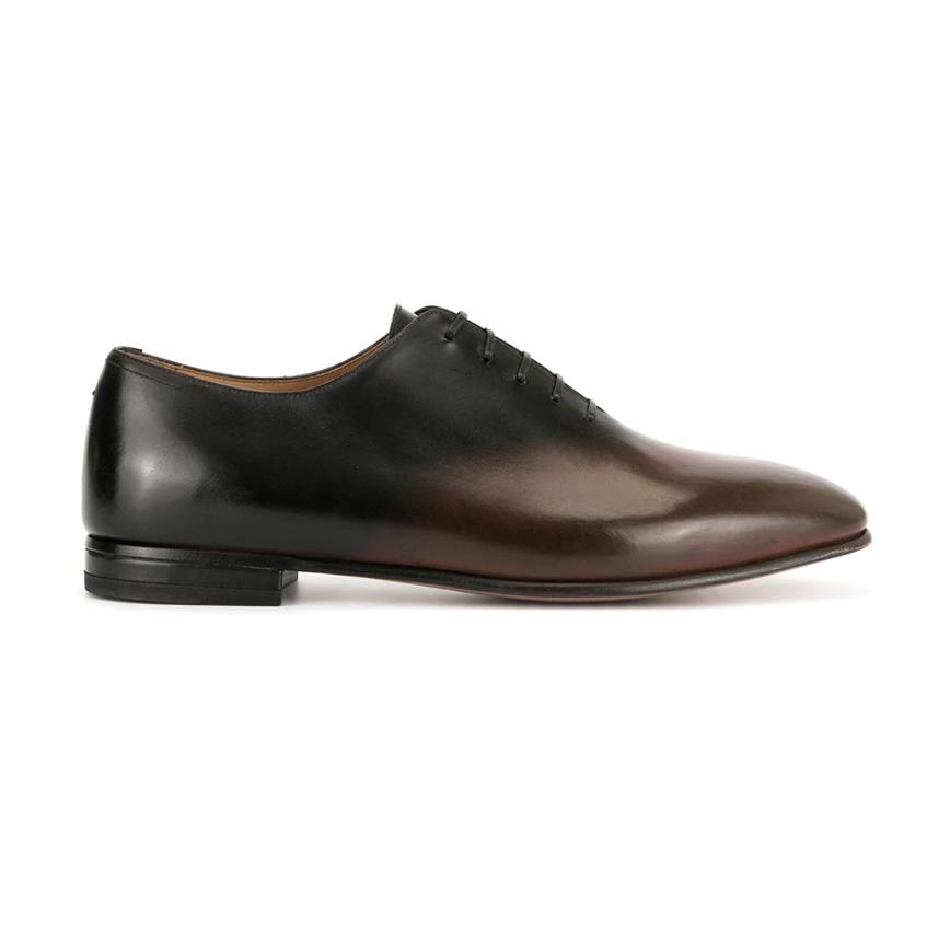 ботинки мужские черно-корпчыневые омбре Francesco Russo