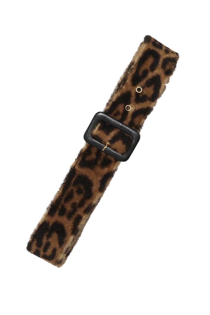 леопардовый ремень Yves Salomon