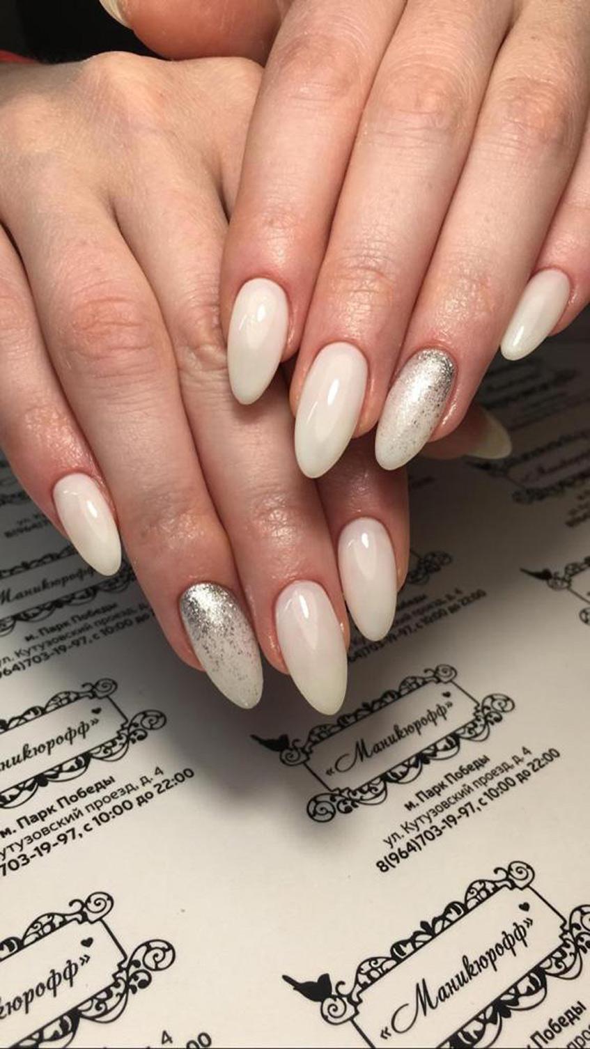 дизайн ногтей телесные тона