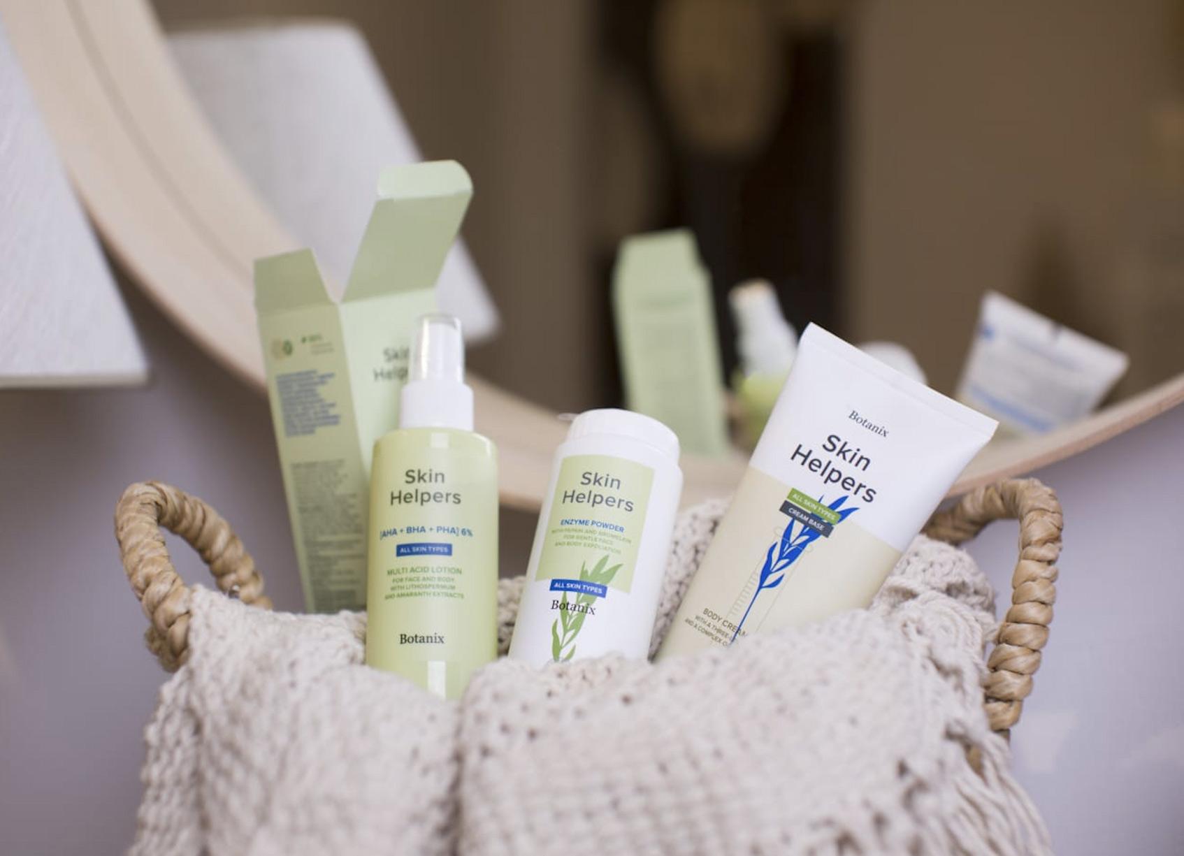 натуральная уходовая косметика для лица Skin Helpers