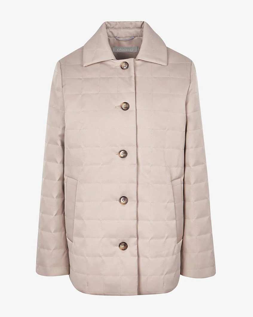 светло-розовая короткая куртка на пуговицах 12storeez