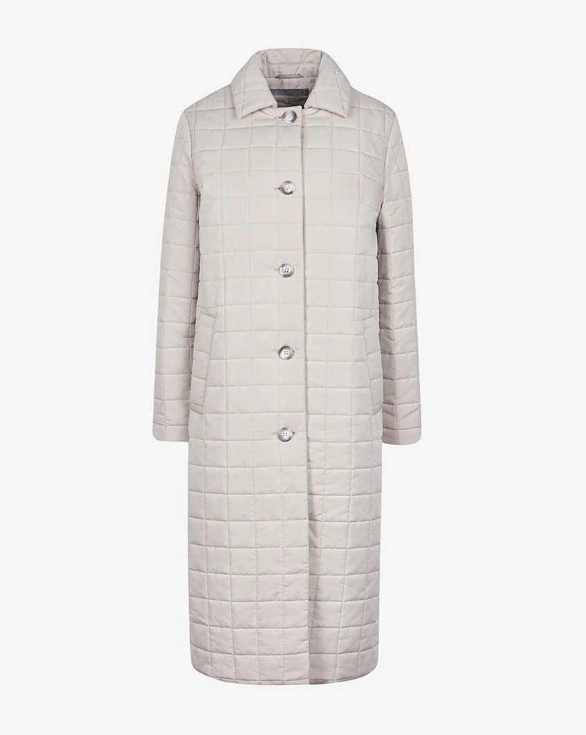 длинная стеганая куртка на пуговицах 12storeez