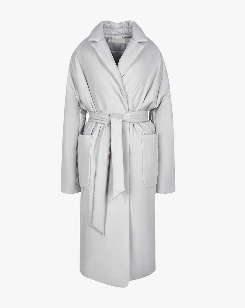 светло-серая куртка с поясом 12storeez
