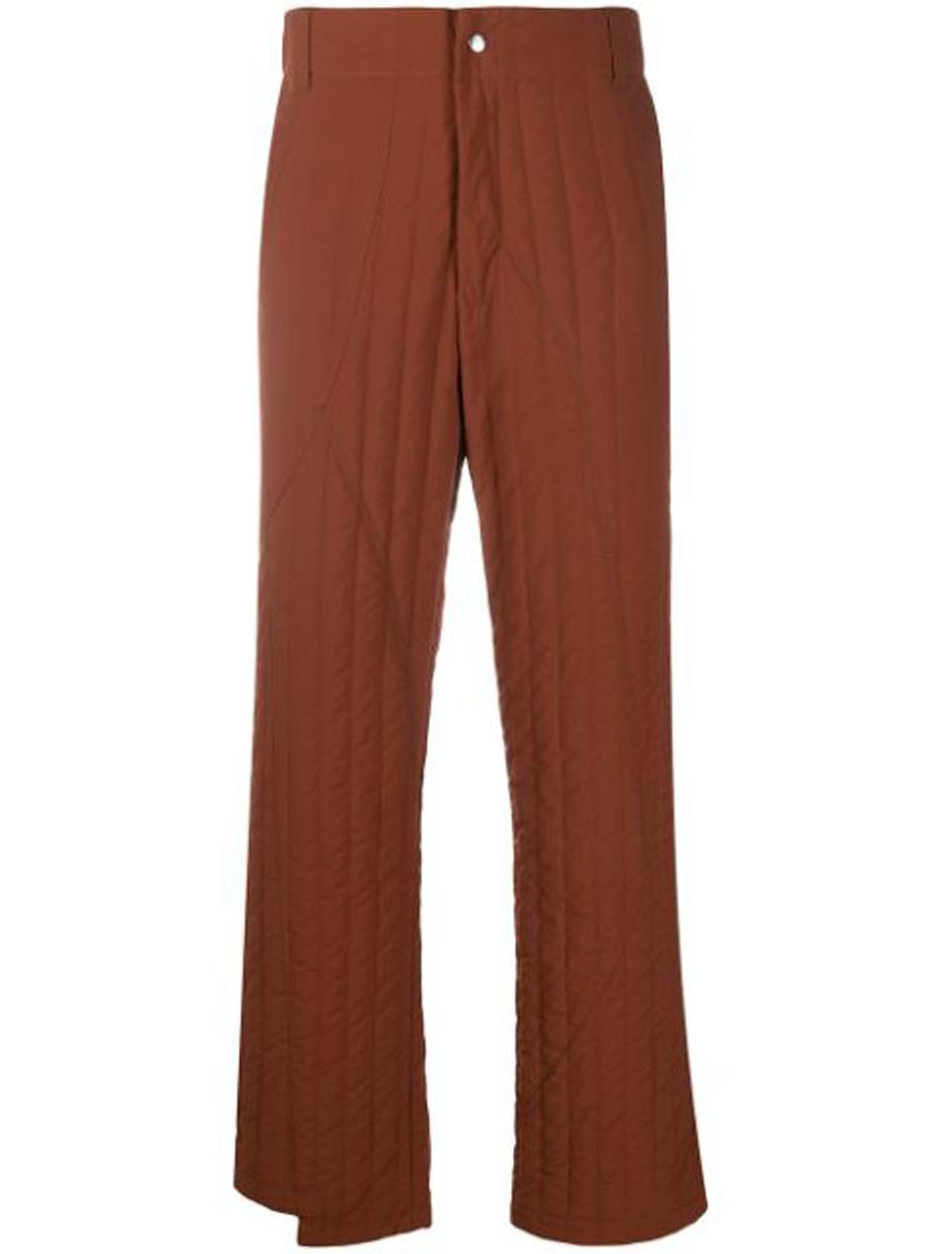 коричневые мужские стеганые штаны