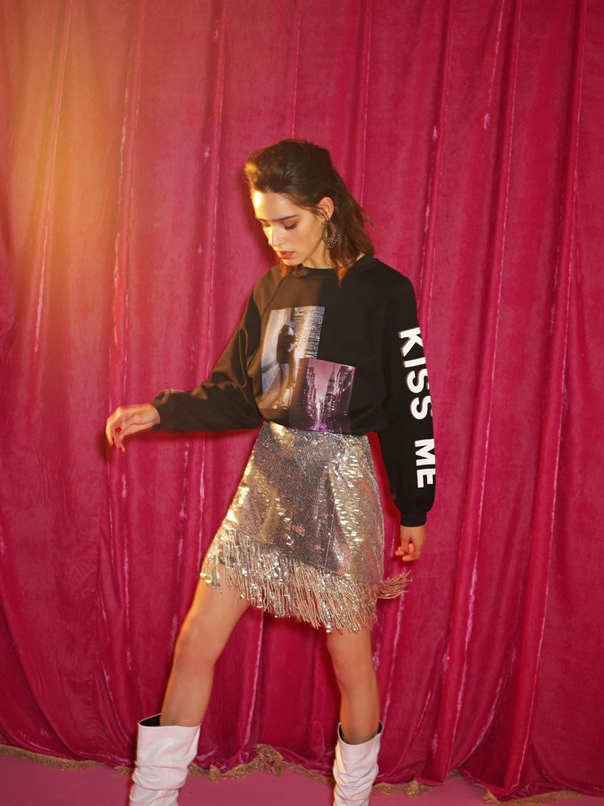 блестящая юбка pinko