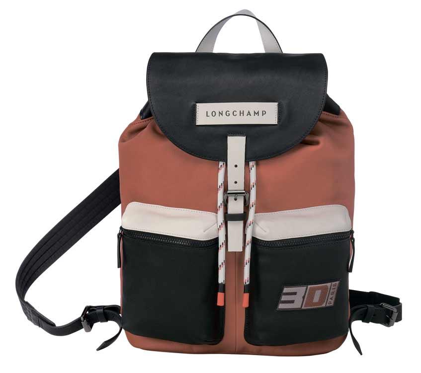 красный рюкзак longchamp