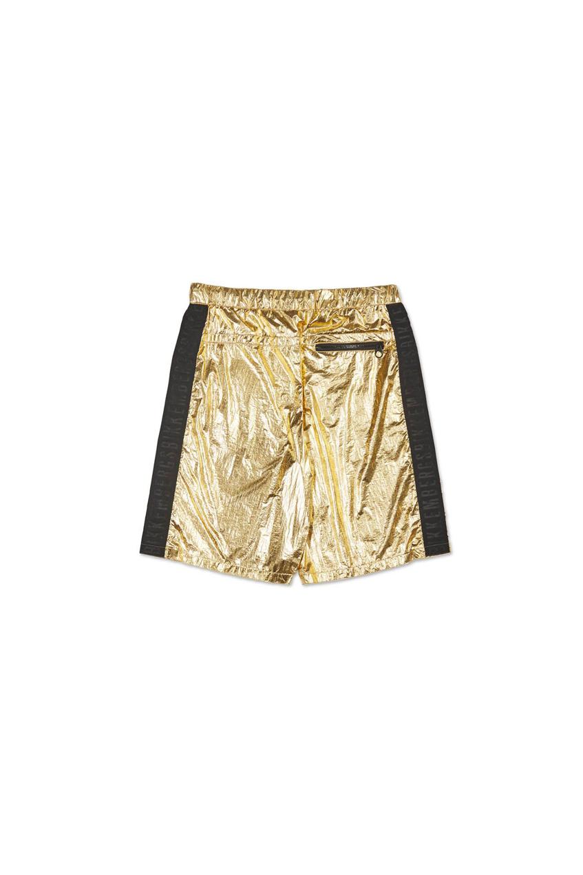 мужские золотые шорты bikkembergs