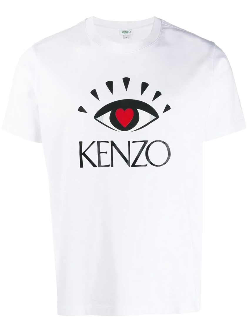 белая мужская майка kenzo
