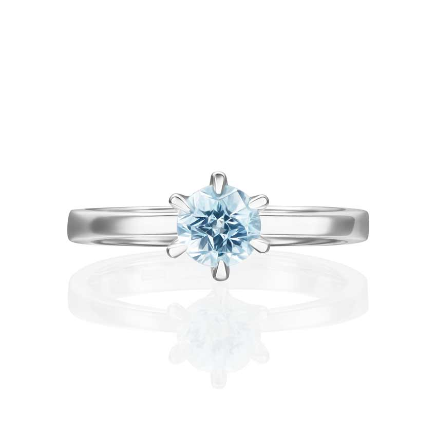 кольцо с голубым камнем alexandr sinitsyn
