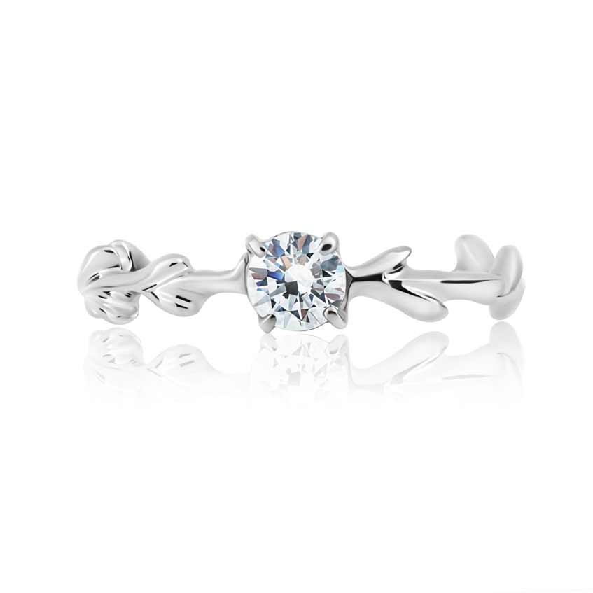 помолвочное кольцо с камнем