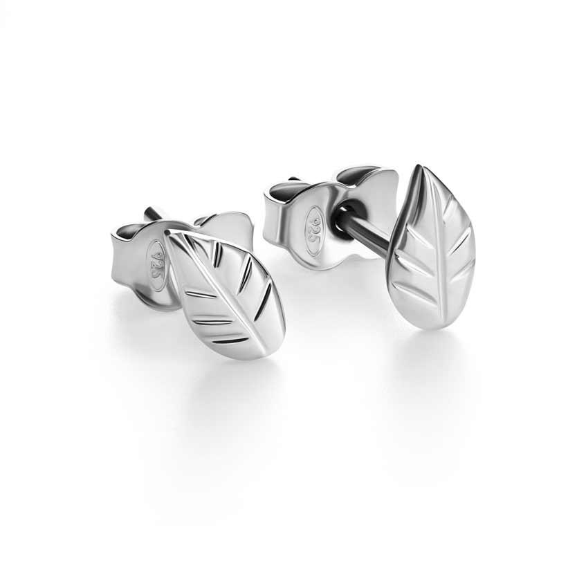 серебряные серьги-гвоздики alexandr sinitsyn