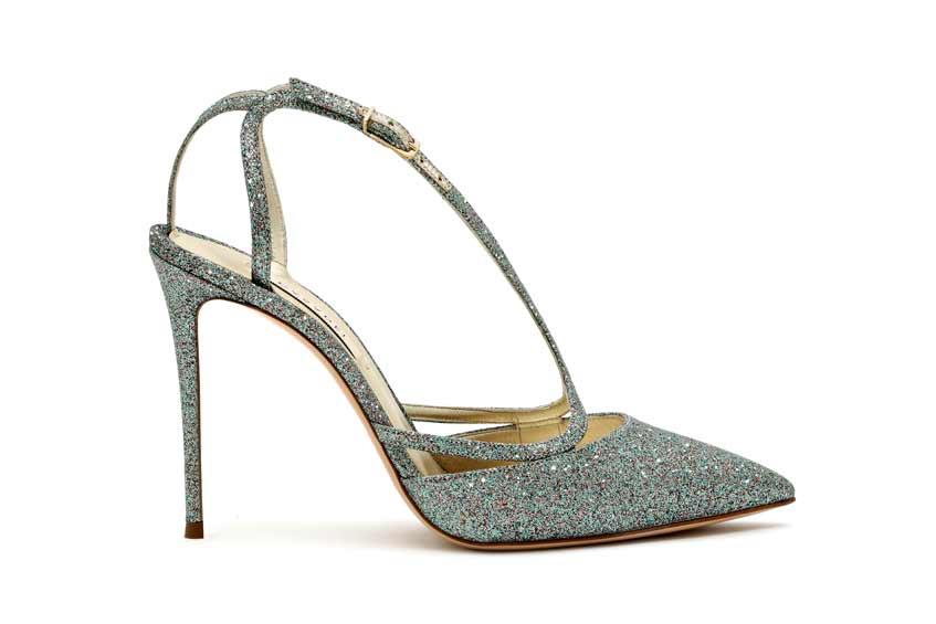 туфли с блестками casadei