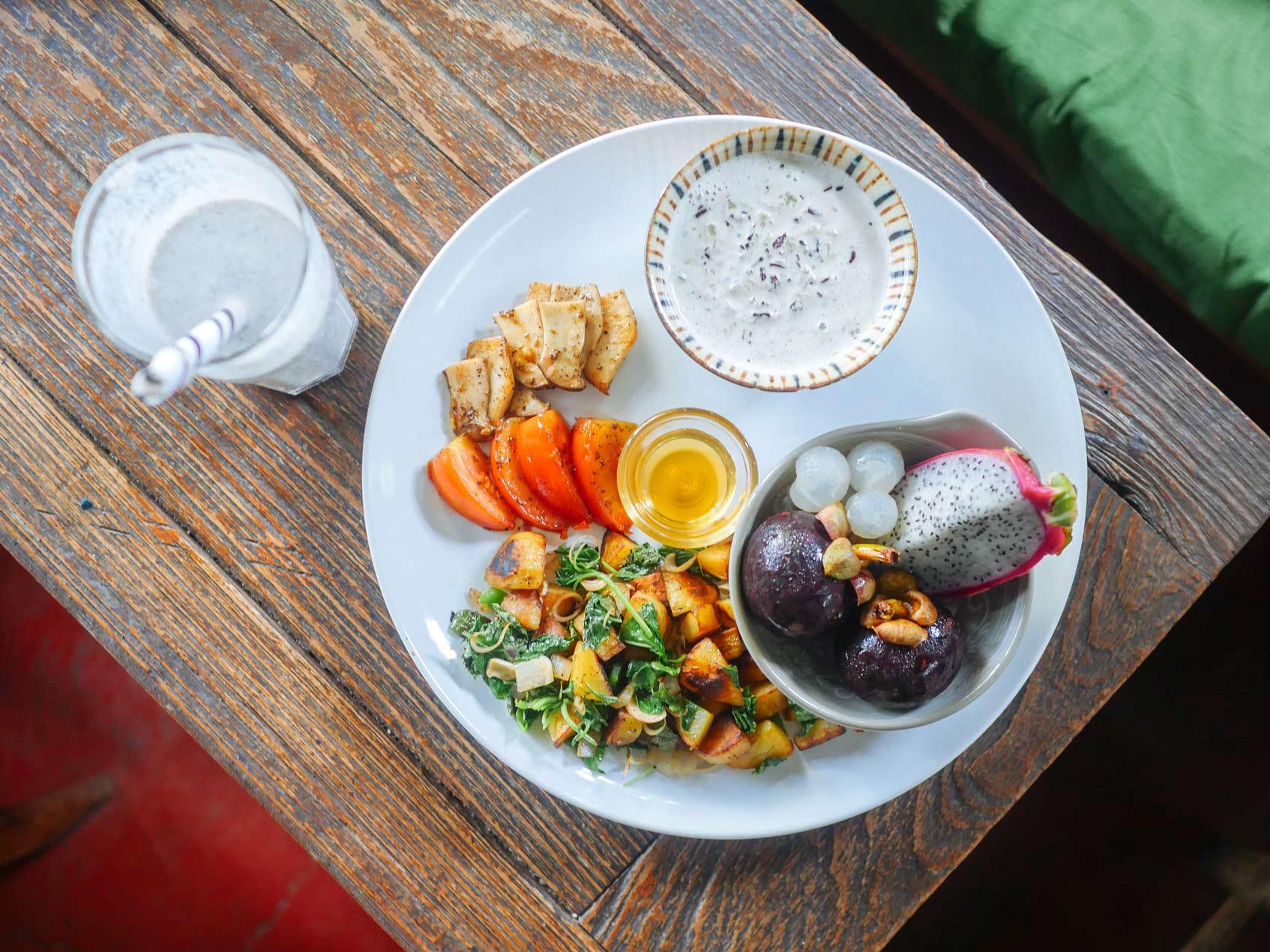 вегетарианский завтрак
