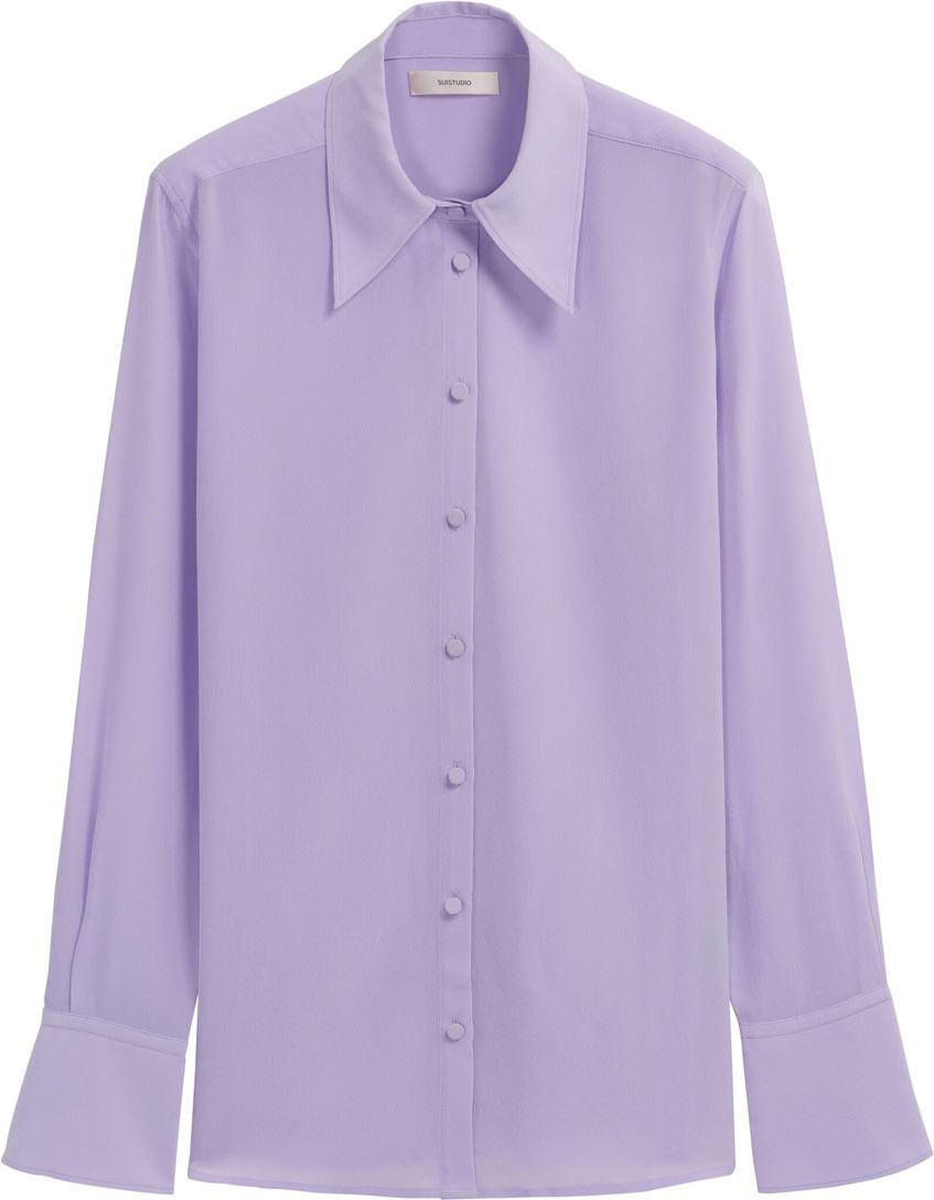 женская сиреневая блузка suitsupply