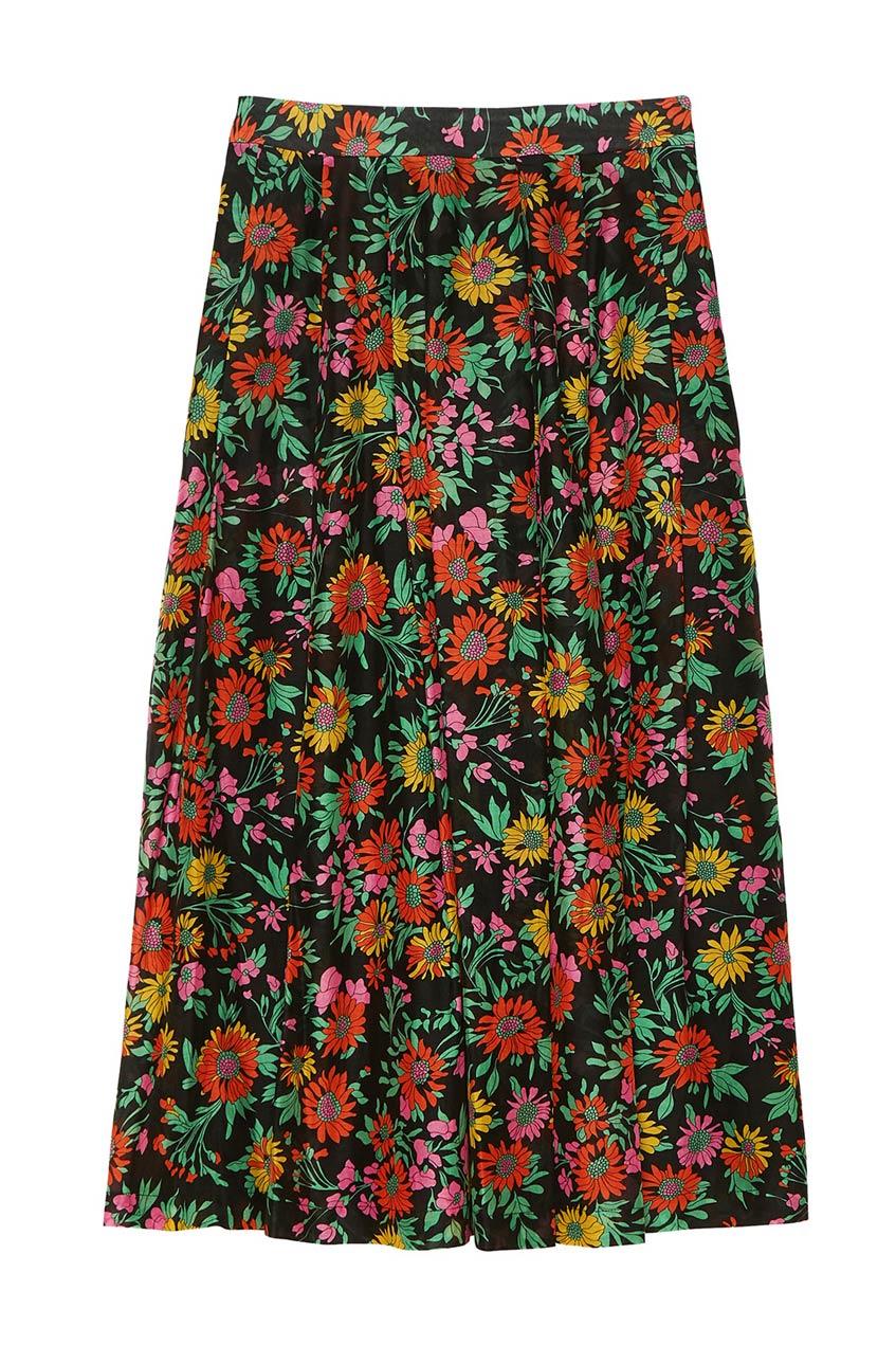 юбка макси с цветочным принтом