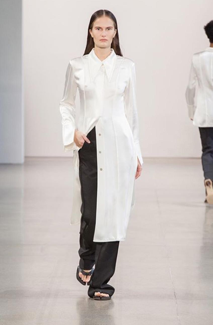 белое платье-рубашка bevza