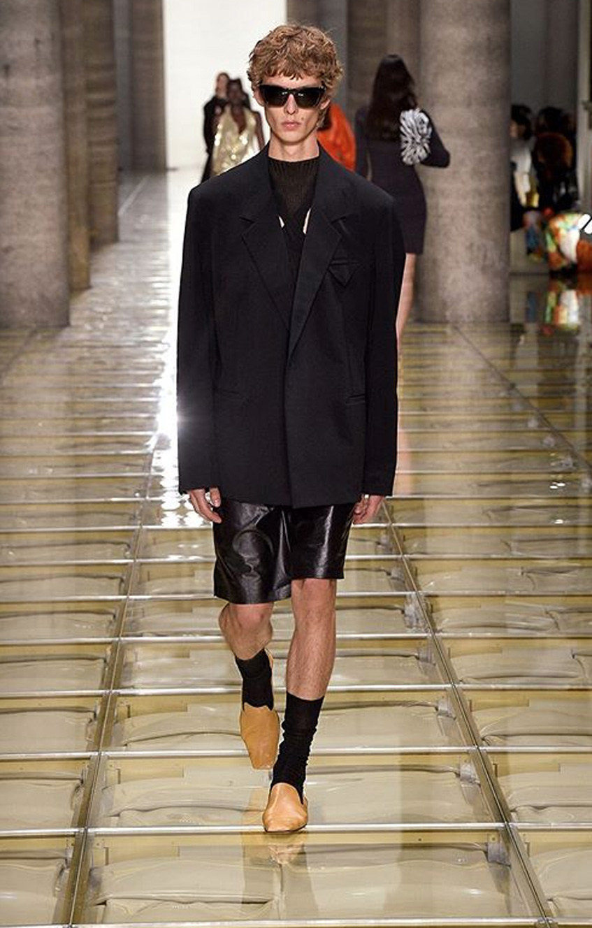 черный мужской пиджак Bottega Veneta