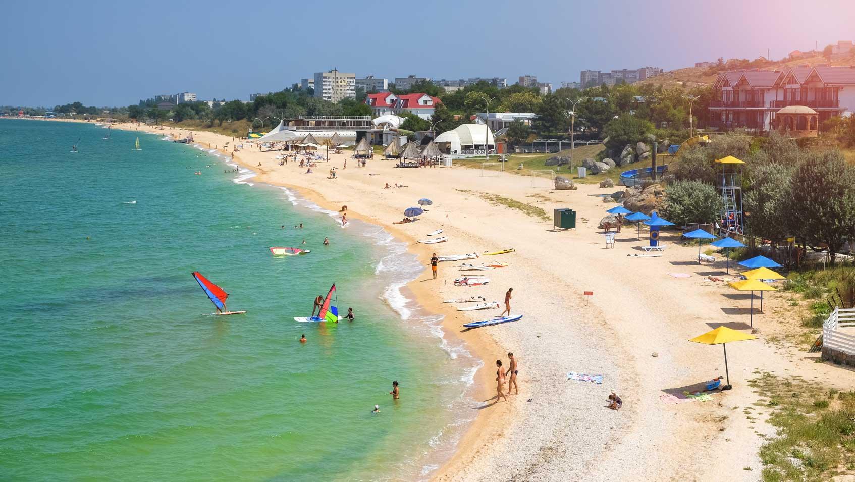пляж казантипа в крыму