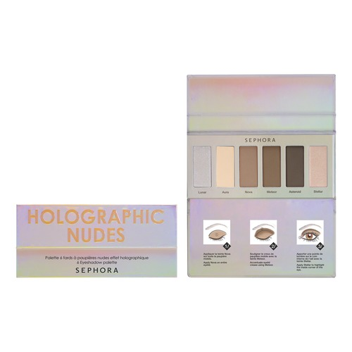 Палетка теней Holographic Nudes Palette от Sephora
