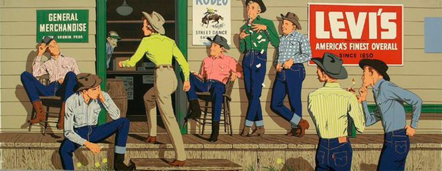 реклама levis 1950е годы