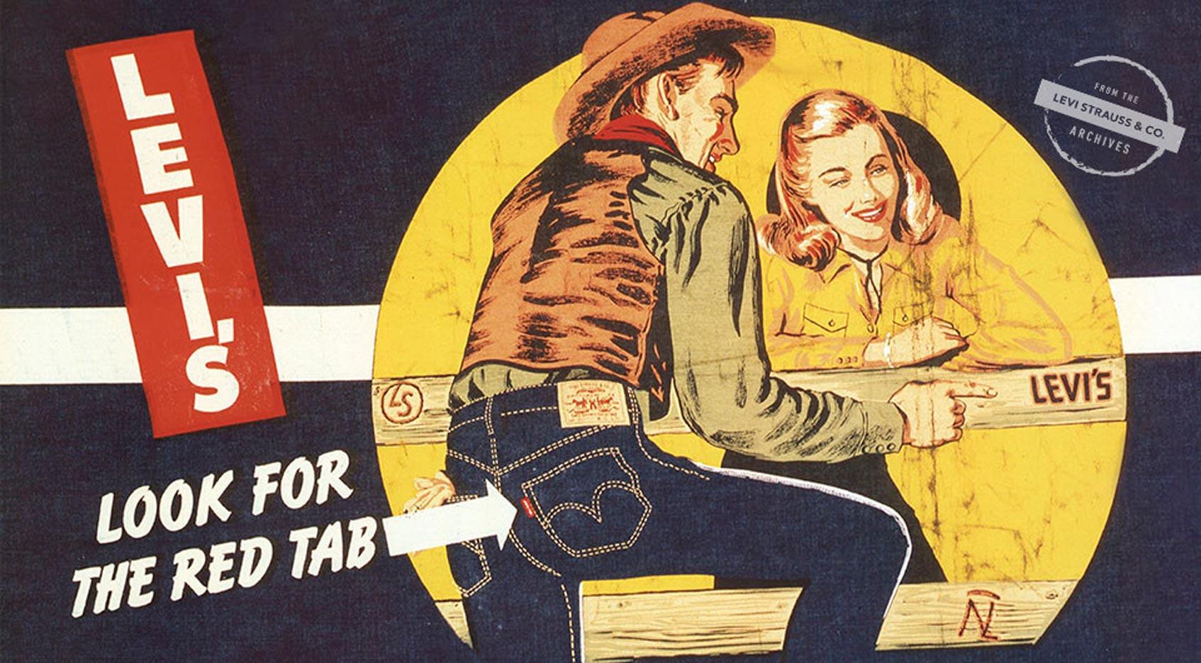 реклама Levis 1950