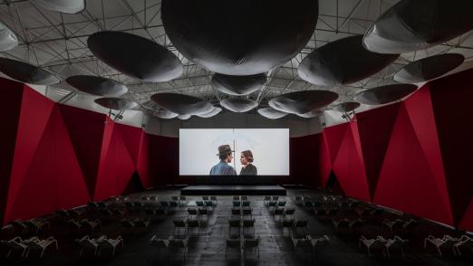 летний кинотеатр garage screen
