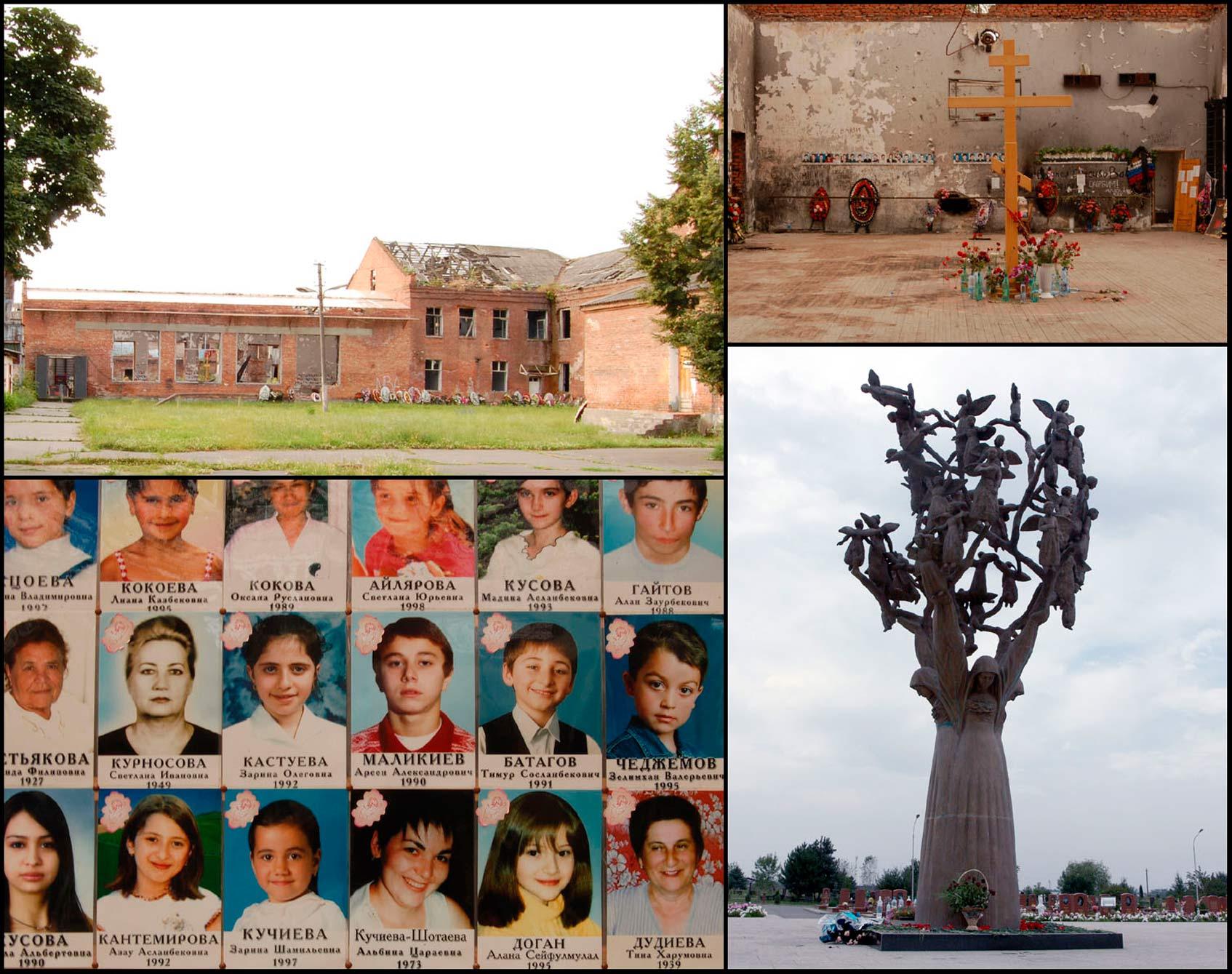 Фото погибших заложников в спортзале школы № 1 г. Беслана.