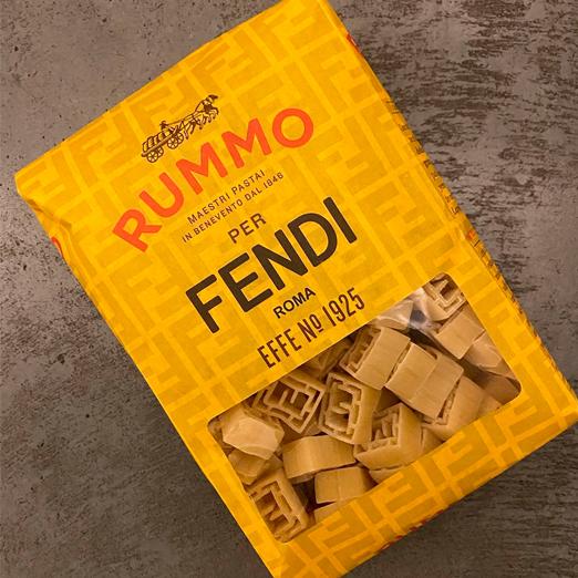 fendi выпустил макароны в виде логотипа