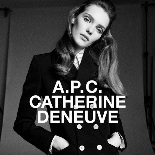 коллаборация бренда apc и катрин денев