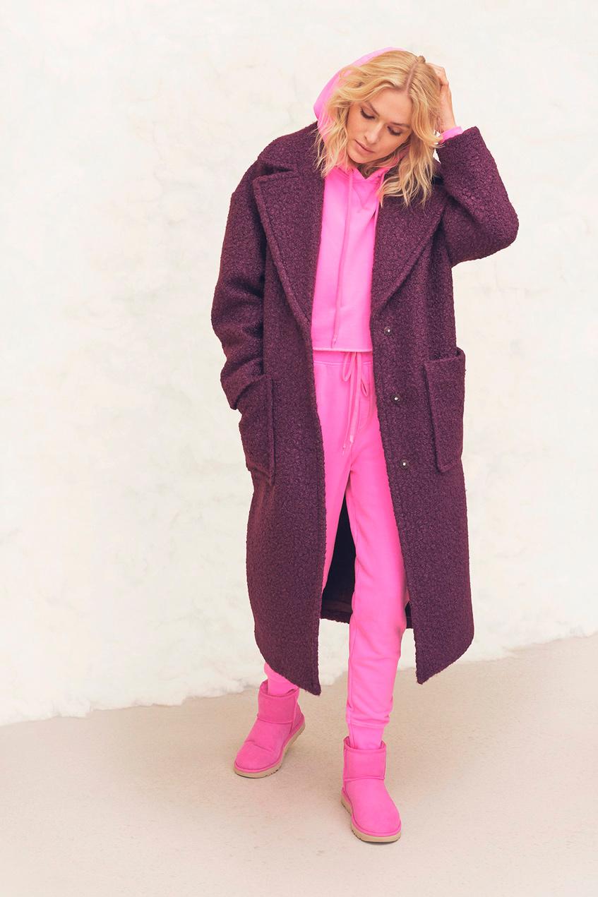 трикотажное пальто ugg