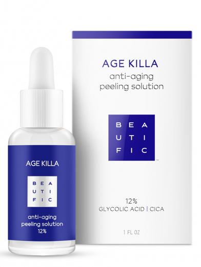 Омолаживающий пилинг 12% с гликолевой кислотой и азиатской центеллой Age Killa от Beautific
