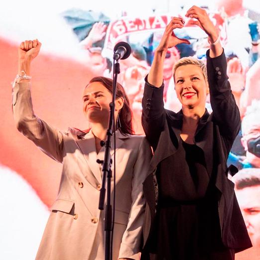 Светлана Тихановская, Мария Колесникова и Вероника Цепкало номинированы на Нобелевскую премию мира