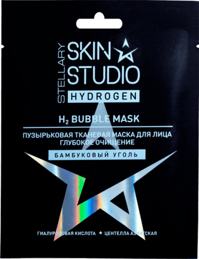 Пузырьковая тканевая маска для лица «Глубокое очищение кожи» от Stellary