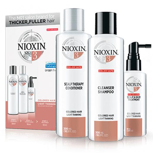 Трехступенчатая система для окрашенных волос с тенденцией к истончению от Nioxin