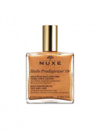 Мерцающее сухое масло для лица, тела и волос Huile Prodigieuse Or от Nuxe