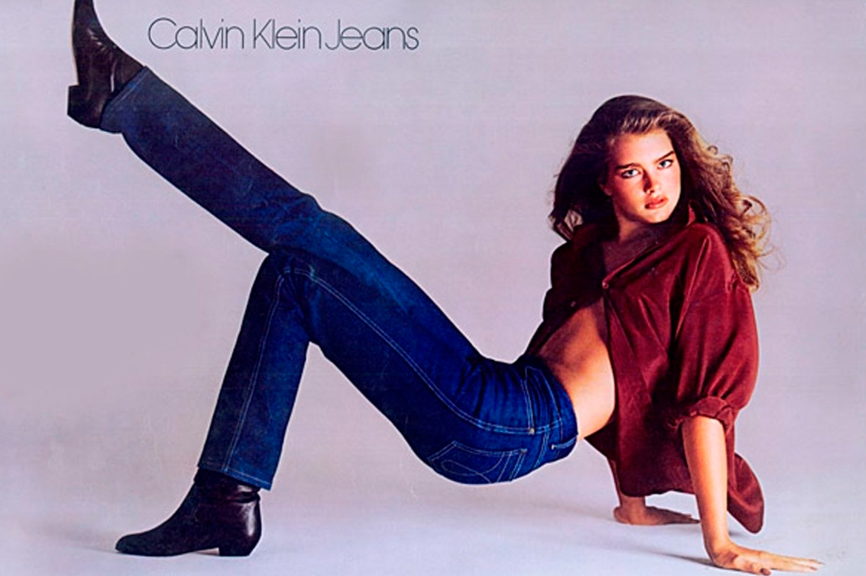 реклама брук шилдс Calvin Klein Jeans