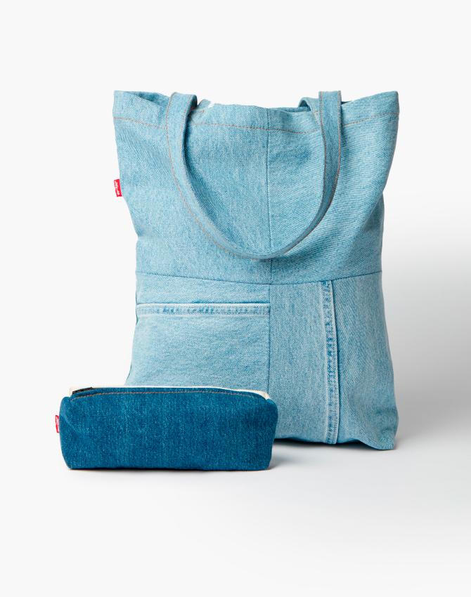 levis сумки из остатков денима
