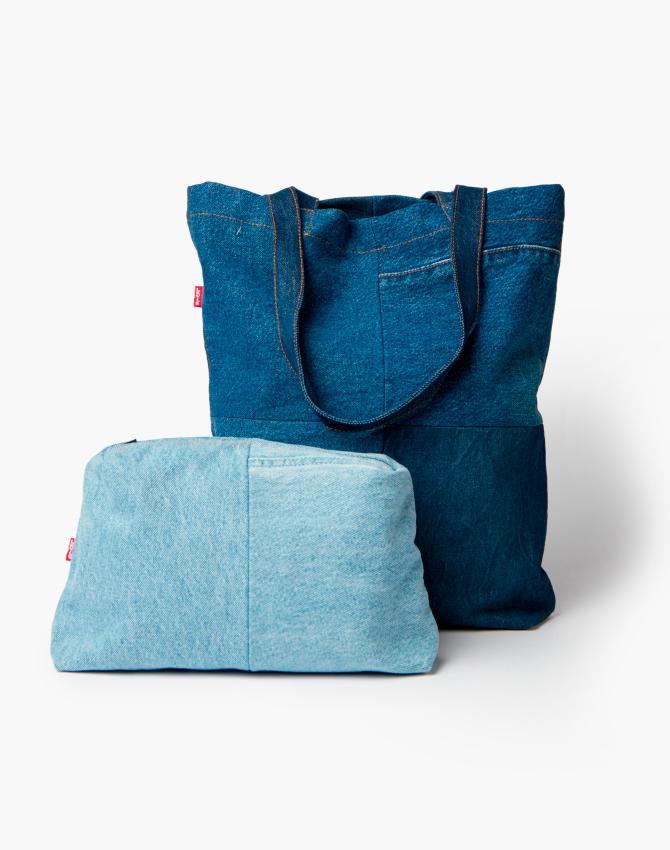 сумка из остатков джинс