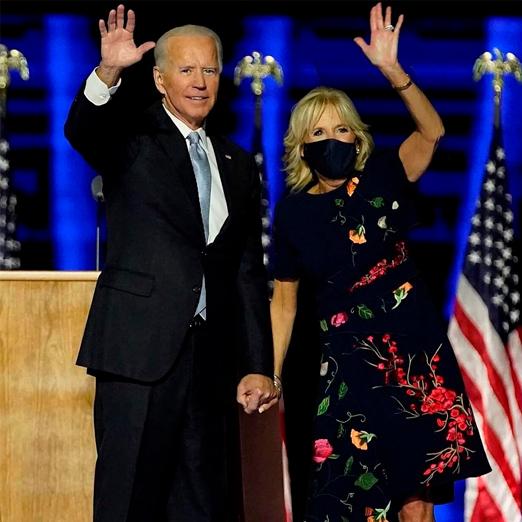 Для первого выхода супруга Джо Байдена выбрала цветочное платье oscar de la renta