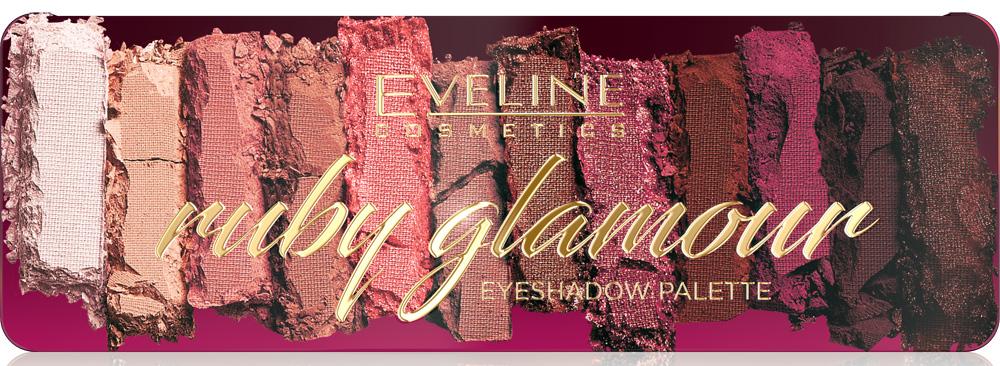 палетка теней Ruby Glamour от Eveline