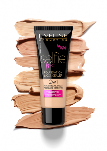 Тональная основа и консилер 2 в 1 Selfie Time от Eveline