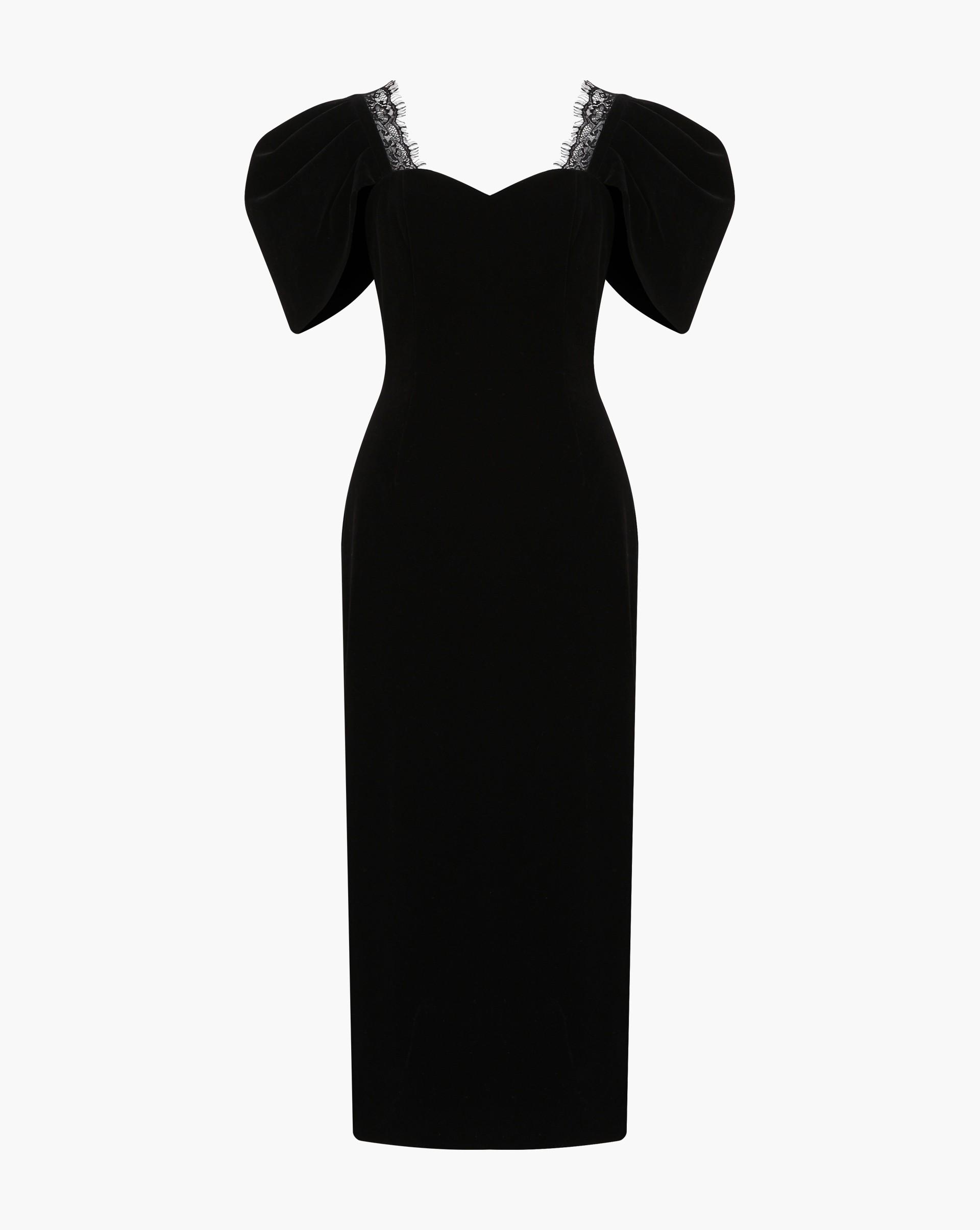Бархатное платье 12 Storeez