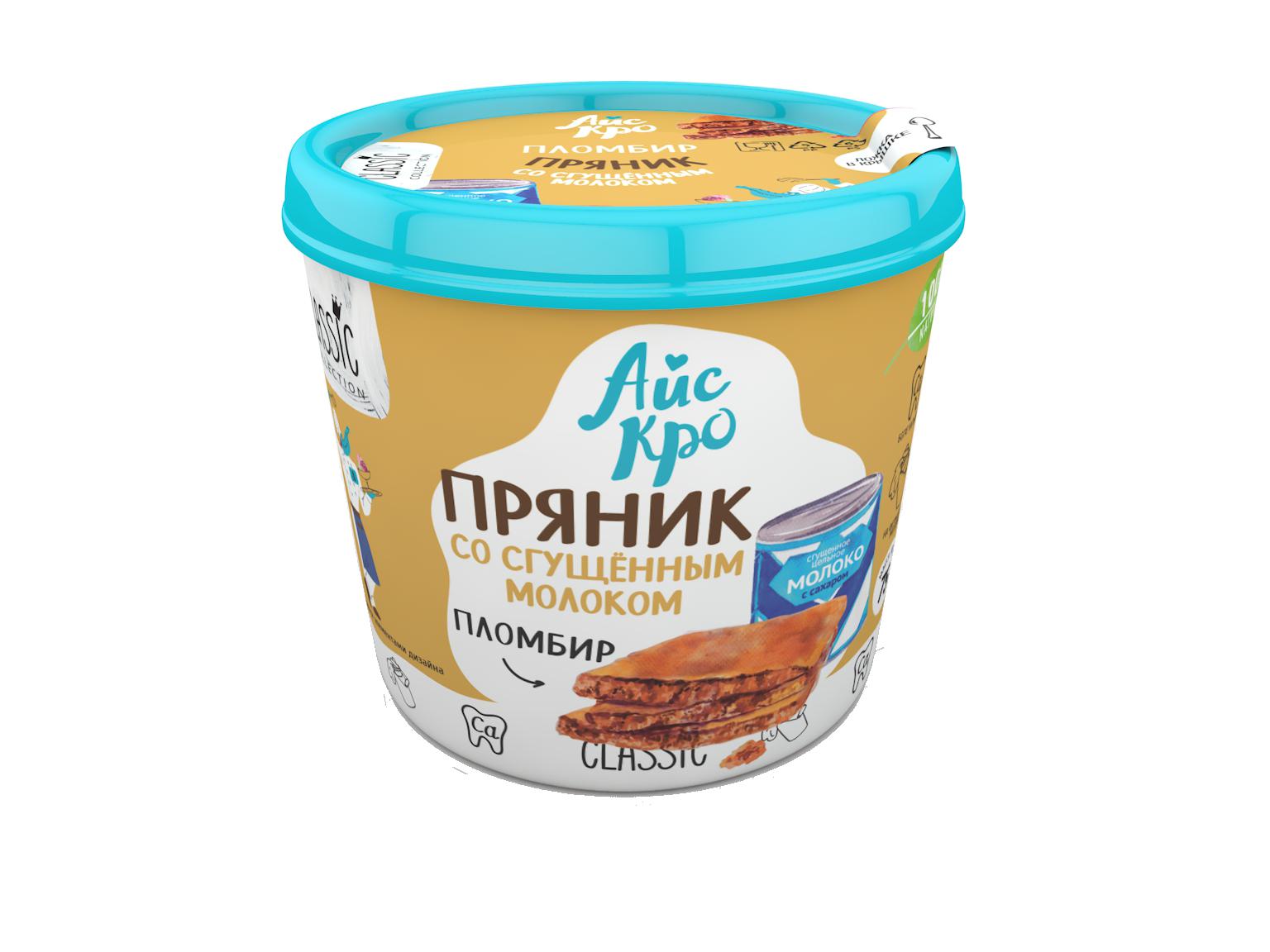 мороженое айскро пряник со сгущеным молоком