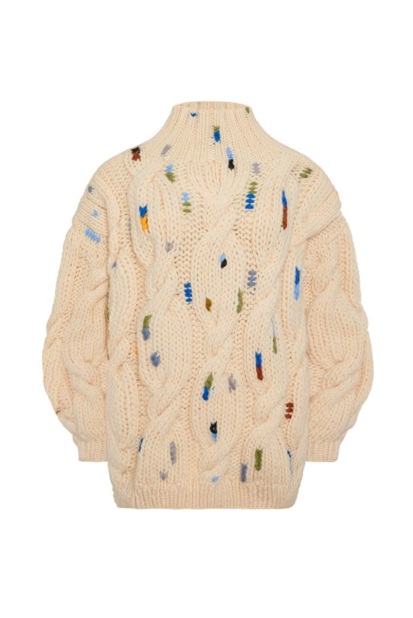 Пуловер крупной вязки Mirstores