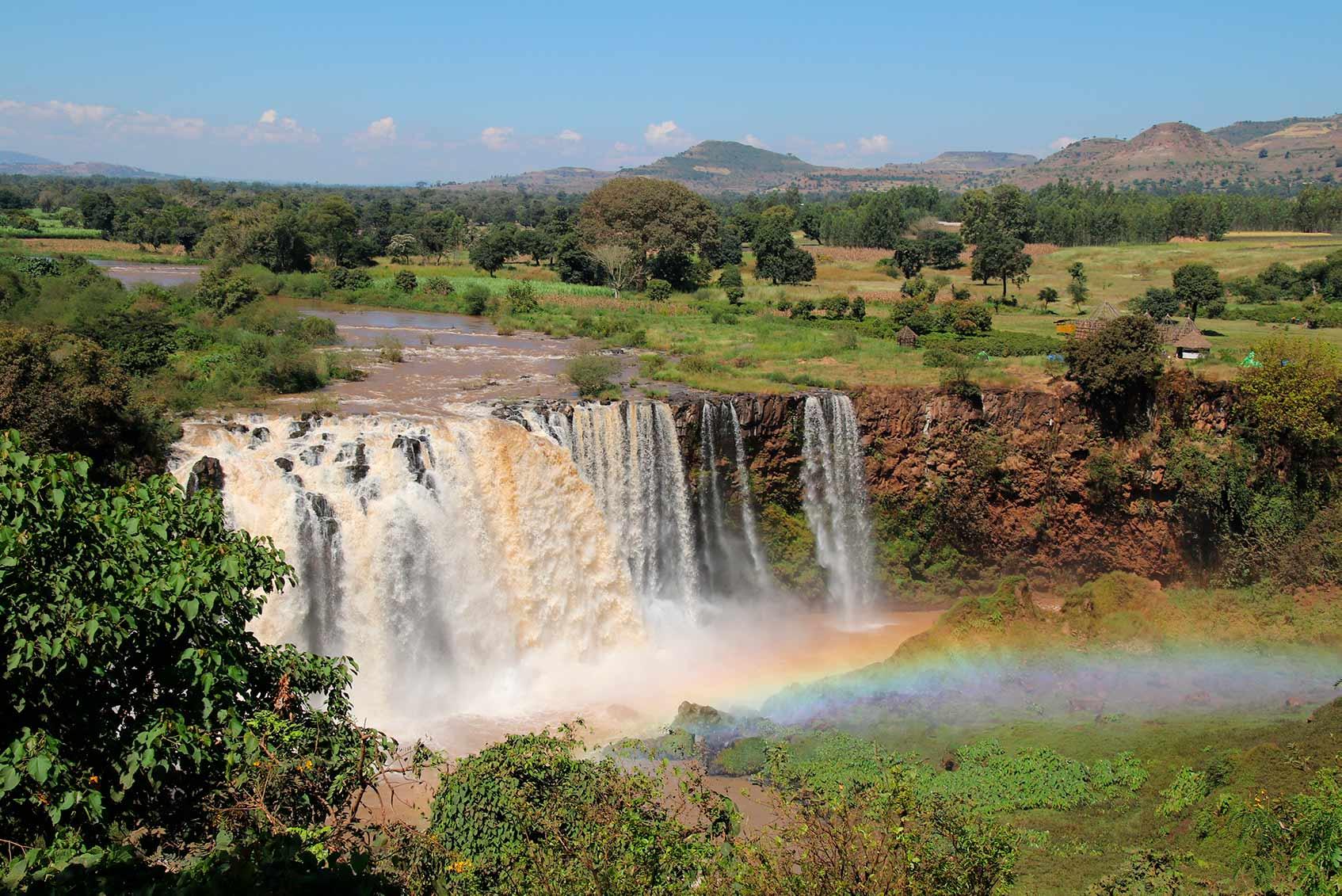 водопады в эфиопии